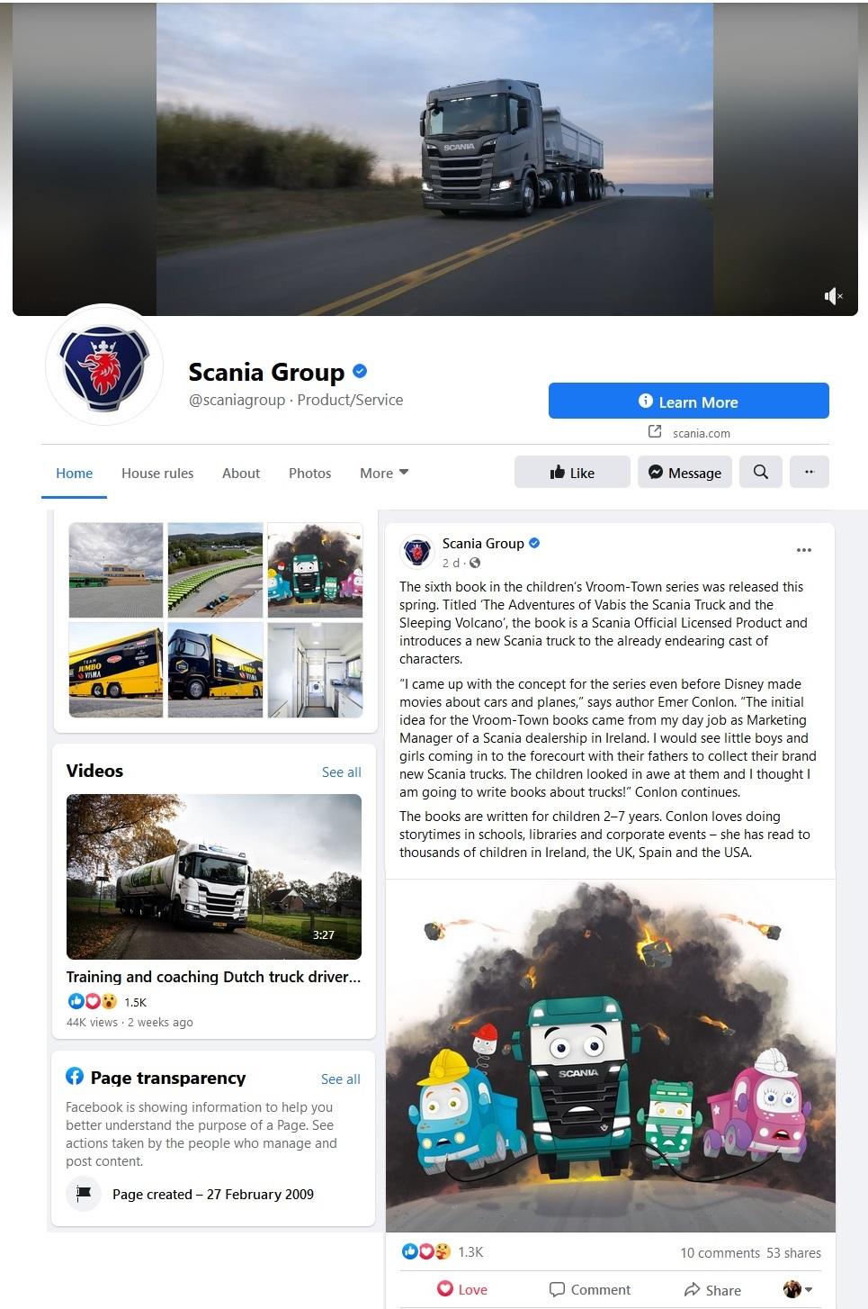 PFB Scania Group Post