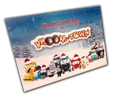 Vroom-Town Christmas card
